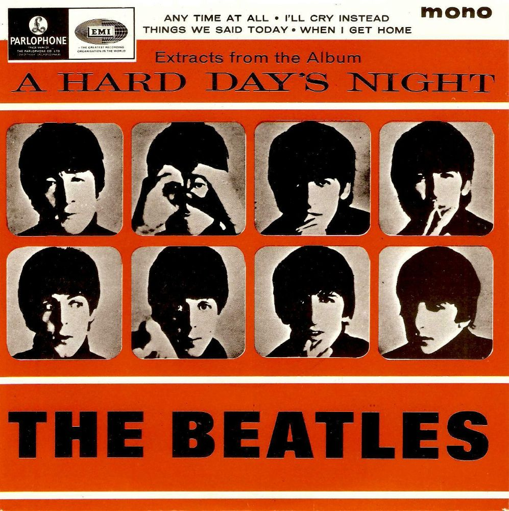 THE BEATLES A Hard Day's Night 2 EP Vinyl Record 7 Inch Parlophone....